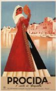 Vintage Travel Poster Procida Naples